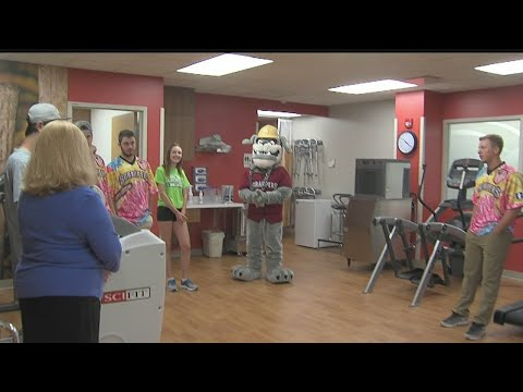 Scrappers visit patients at Akron Children's Boardman hospital