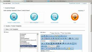 using the dynamic views to display data from the dynamic forms in dotnetnuke part2 3 video 198