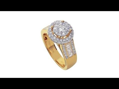 Diamond Couture 1.5ct Diamond 14K Yellow Gold Round Ring. https://pixlypro.com/5YVIlLn