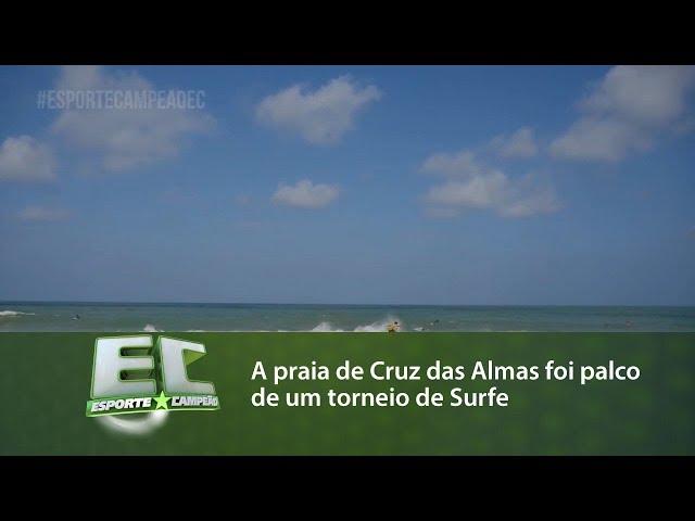 A praia de Cruz das Almas foi palco de um torneio de Surfe