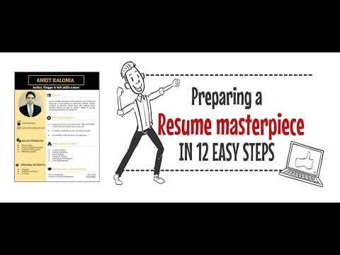 How to prepare a resume in 12 easy steps - YouTube - preparing a resume