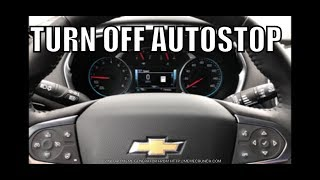 EASY WAY to turn OFF AUTO STOP