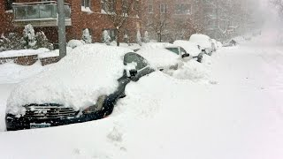 Severe snowstorm in New York. January 23, 2016