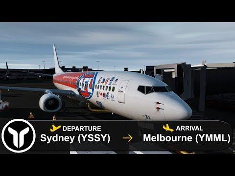 [P3D V4.5] Sydney To Melbourne (YSSY-YMML) | 737-800 | Virgin Australia | VOZ882
