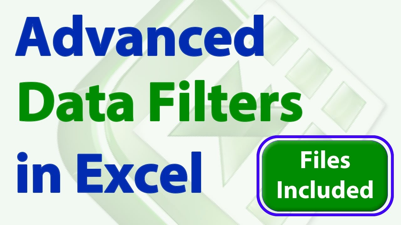 Learn Advanced Data Filter Techniques in Excel