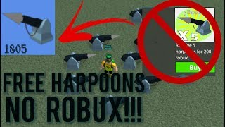 Roblox - Build a Boat for Treasure: How to Get *FREE HARPOONS* (NO ROBUX!!!)