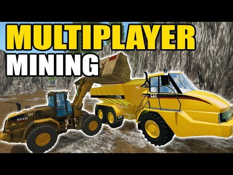 MINING SIMULATOR 2017 | MINING STONE & TURNING IT INTO SAND & GRAVEL | MULTIPLAYER