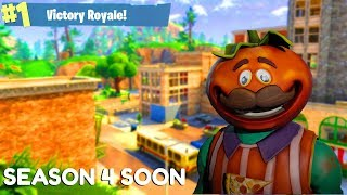 "Fortnite:Battle Royale ""Tomato Head"" Skin Last Day - Fortnite Saison 4 Préparation commence (505 victoires et plus)"
