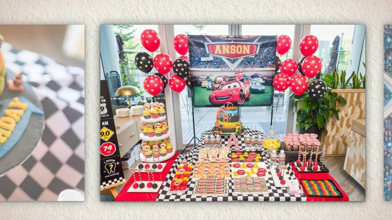 Colourful Cars Theme Birthday Party Ideas