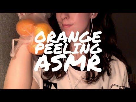 ASMR | Super Satisfying Orange Peeling Sounds
