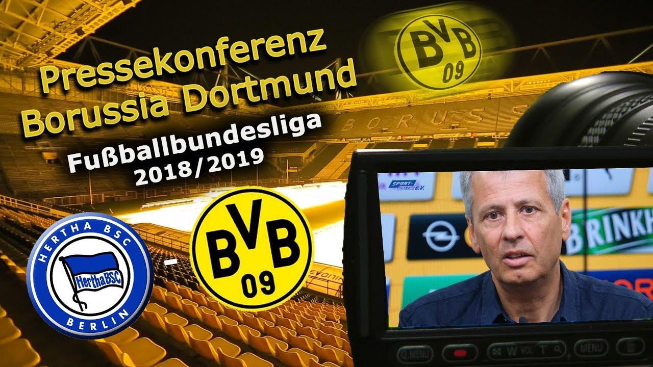 BVB-Pressekonferenz vor dem Spiel gegen Hertha BSC