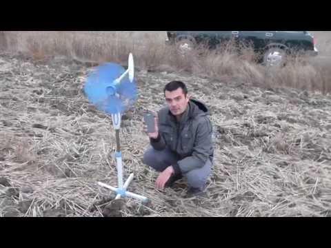 видео: свое электричество. ветрогенератор из комнатного вентилятора.