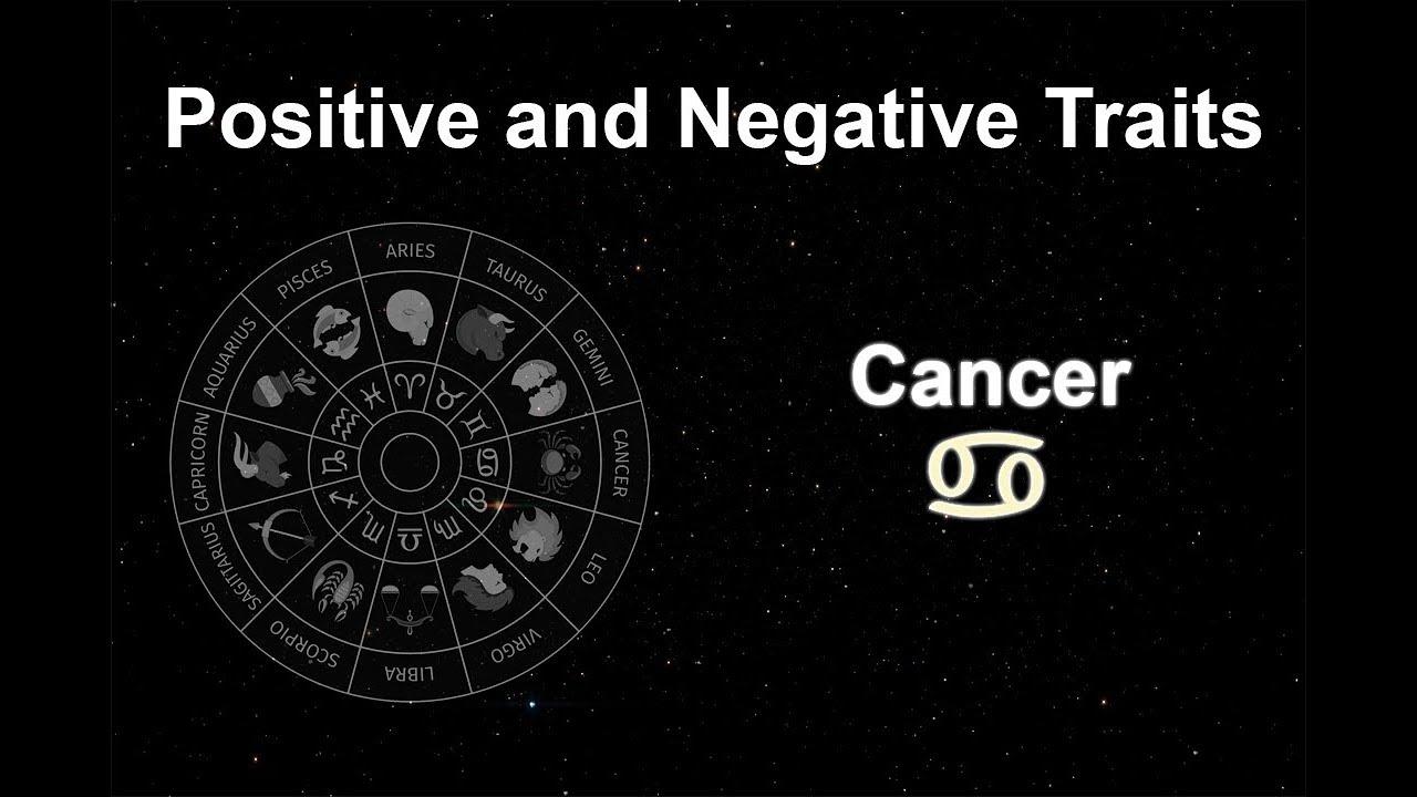 cancer sign negative traits