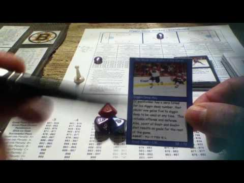 Sample playthrough of Diggin Deep Hockey board game