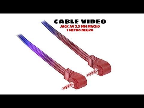 Video de Cable de video Jack AV 3.5mm macho 1 M Negro