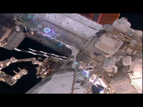 ESA astronauts spacewalk training
