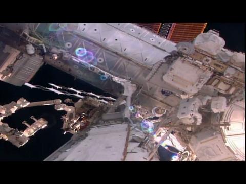 ESA astronauts spacewalk training