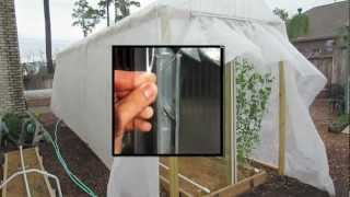 Diy Greenhouse Fabric & Film Fastener, No Clips Or Wiggle Wire
