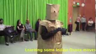 Paper Bag Man visits Cast