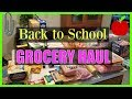 Back to School Grocery Haul