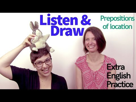 Listening Activity: Listen & Draw - Prepositions