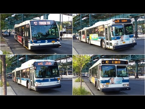 MTA: Various Bus Action On The (2) Shuttle/Bx39/Bx41 @ Gun Hill Road