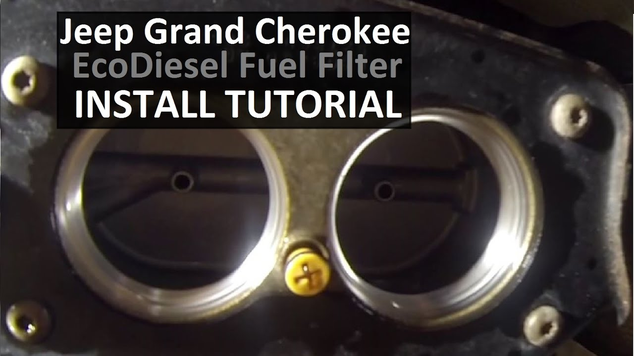 jeep grand cherokee ecodiesel fuel filter diy youtube. Black Bedroom Furniture Sets. Home Design Ideas