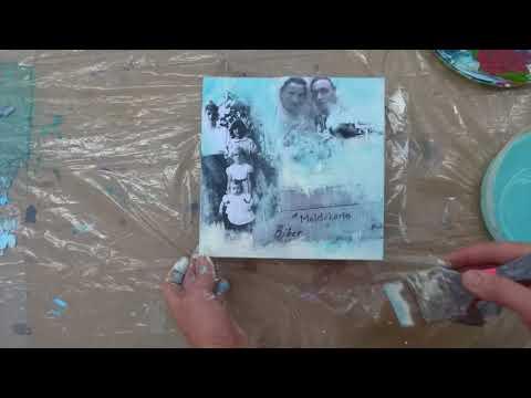 Maltechnik: Collage Mit Acrylübermalung