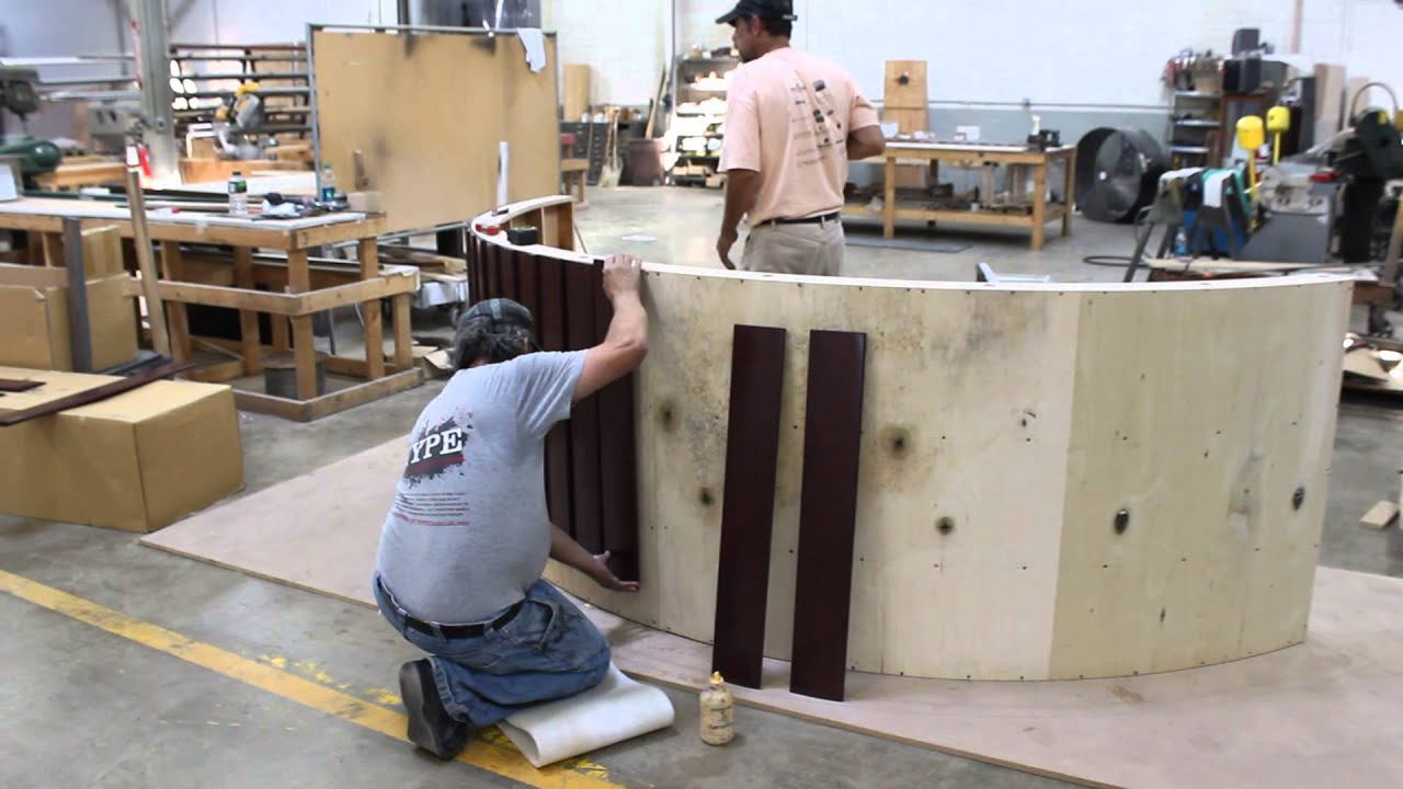 Appletree Design Works Inc -- Building a Curved Bar - YouTube