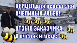 Прицеп для перевозки пчелиных ульев. Отзыв пчеловода. Пчеловодство в России