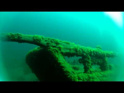 The Sandusky shipwreck in the Straits of Mackinac