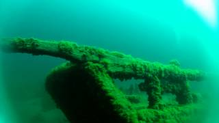 The Sandusky shipwreck in the Straits of Mackinac