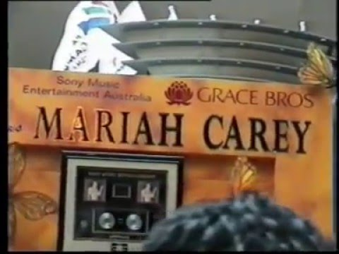 Mariah Carey Miranda Shopping Center Sydney, Australia 1998 In Store Signing