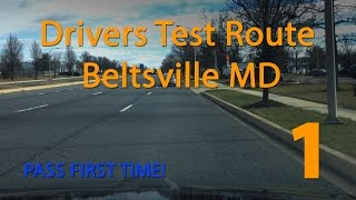 Maryland MVA Driving Test Route - Beltsville