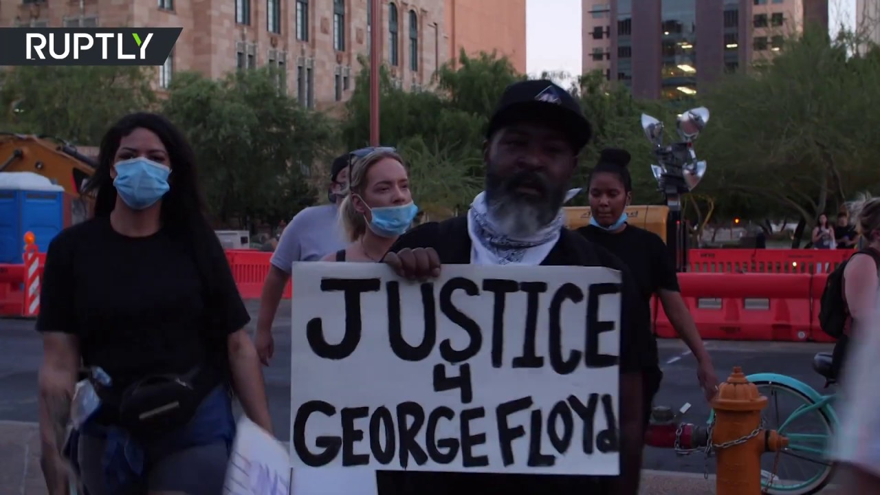 Unrest over George Floyd's death | Hundreds unite in Phoenix protest march