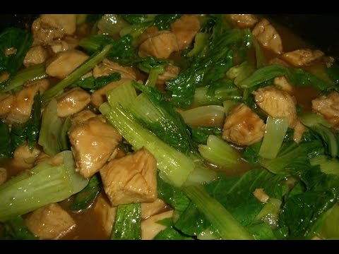 Chicken With Bok Choy In Sweet Soy Sauce Recipe Asmr