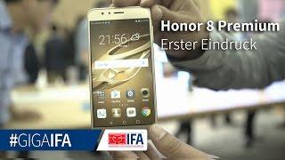 Honor 8 Premium in Gold im Hands-On: Neue Farbe und mehr Speicher - GIGA.DE