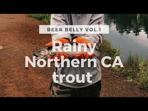 Baum Lake Trout Fishing, Northern CA - BEER BELLY Vlogs Ep 1