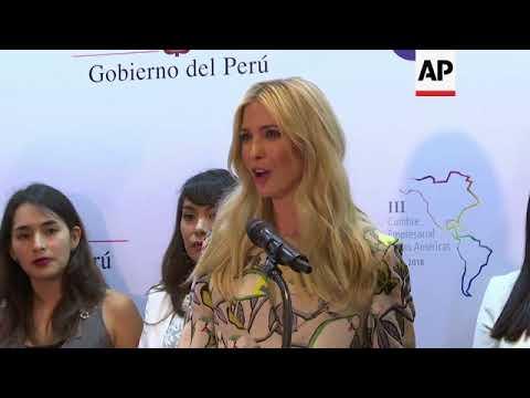 In Peru, Ivanka Trump announces women in business initiative