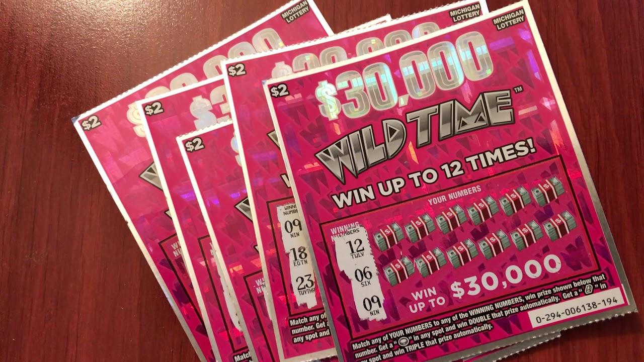 New $2 $30,000 Wild Time - Michigan Lottery - 4/4/2019