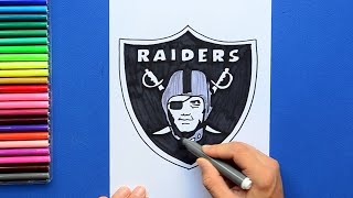 How to draw and color the Oakland Raiders logo - NFL Team Series