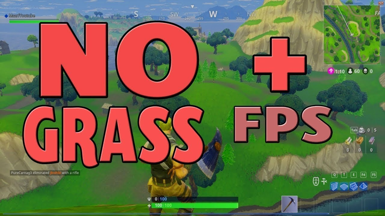 How To Get Better FPS & Removing The Grass [GUIDE] ► Fortnite [Battle  Royale]