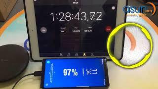 Mất bao lâu để sạc đầy pin Galaxy Note 8  Bằng Dây Sạc Nhanh Chính Hãng