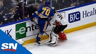 Oskar Sundqvist Having Hearing With NHL For This Hit On John Gibson