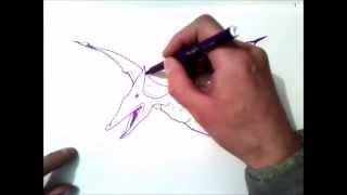 как рисовать птеродактиля
