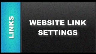 Web Design Tutorials for Xara Web Designer - Website Link Settings Lesson 103