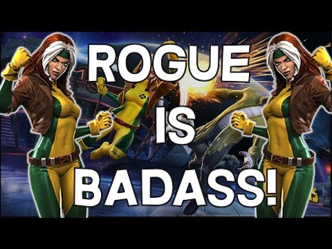 Rogue Is Badass - Ability Overview + Rank 5 Gameplay - Marvel Contest Of Champions