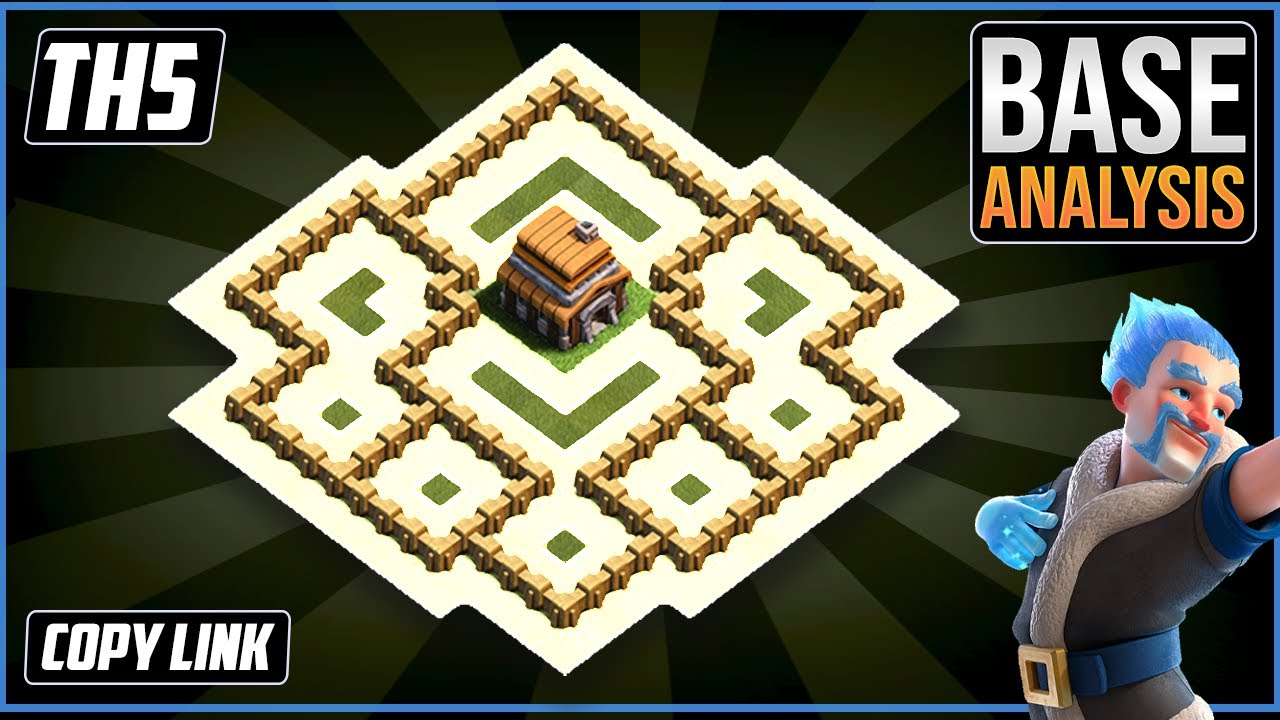 THE BEST TH5 HYBRID/TROPHY Base 2021!! COC Town Hall 5 (TH5) Trophy Base Design - Clash of Clans