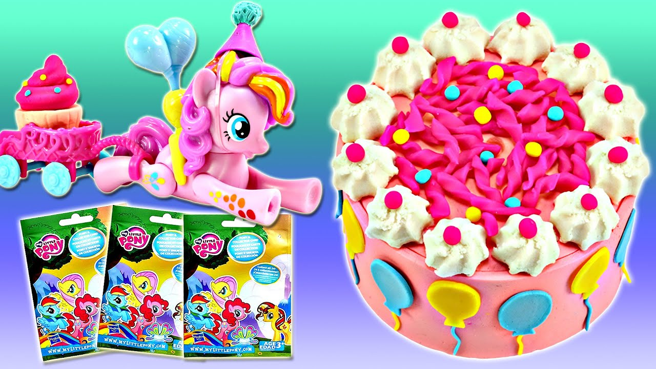 Play Doh My Little Pony PINKIE PIE Birthday Cake Surprise Toy Opening
