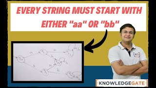 كل سلسلة يجب أن تبدأ مع أي 'aa' أو 'bb' | جدول المحتويات | نظرية الحساب | الباردون | جزء 17